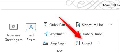 درج PDF در ورد