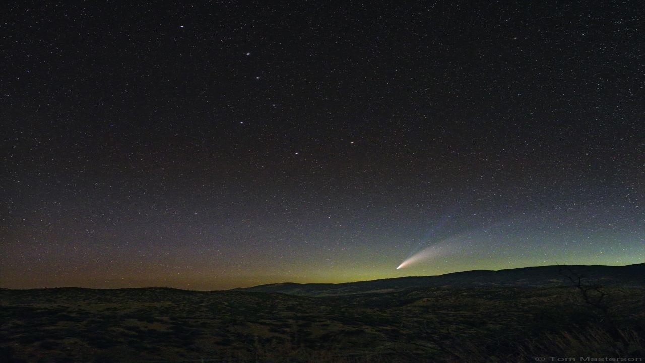 دنباله دار نئووایز و صورت فلکی دب اکبر — تصویر نجومی روز