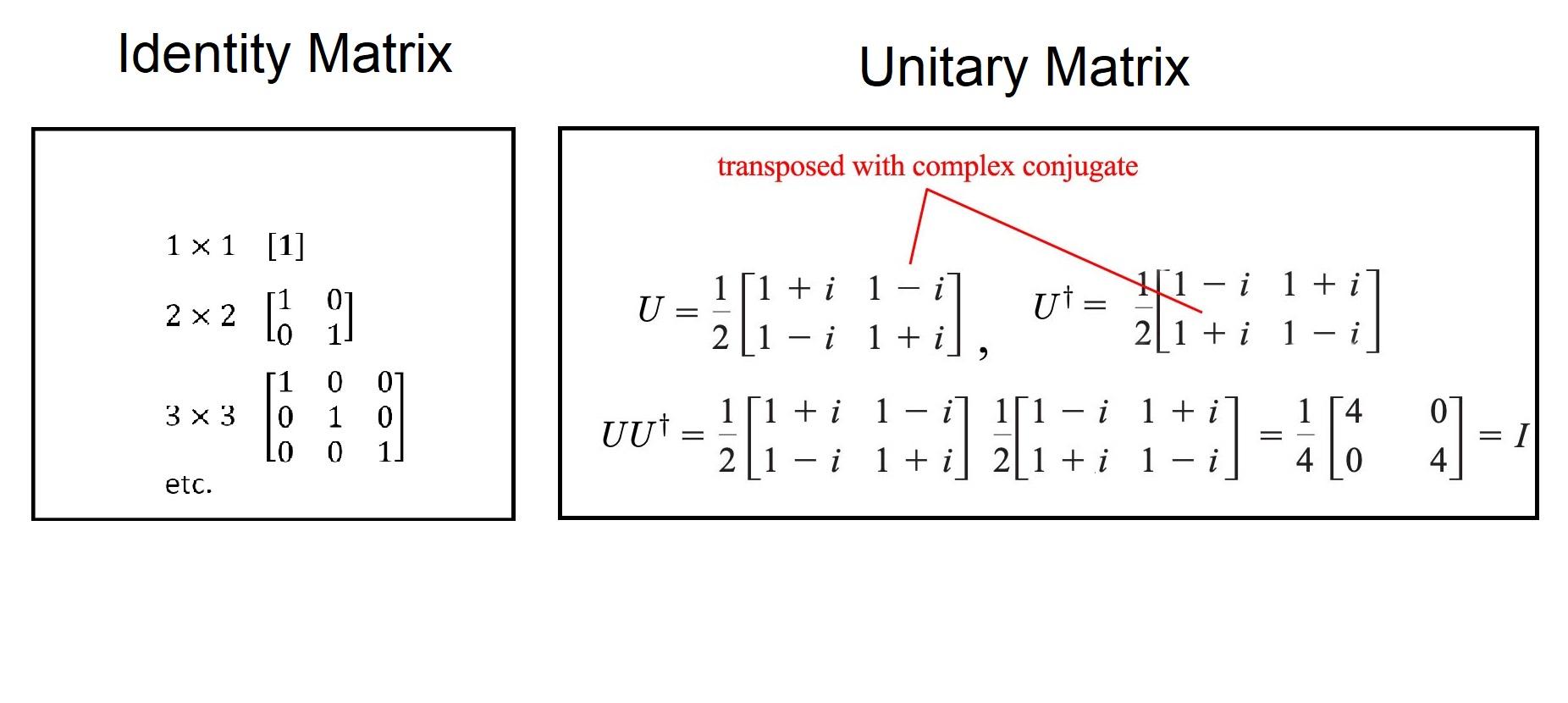 ماتریس همانی و ماتریس یکانی | به زبان ساده