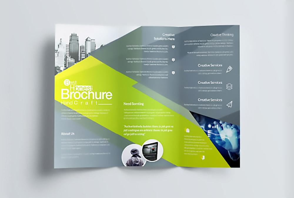 طراحی بروشور سه لت در پاورپوینت — به زبان ساده
