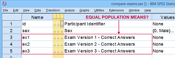 paired samples t test example data