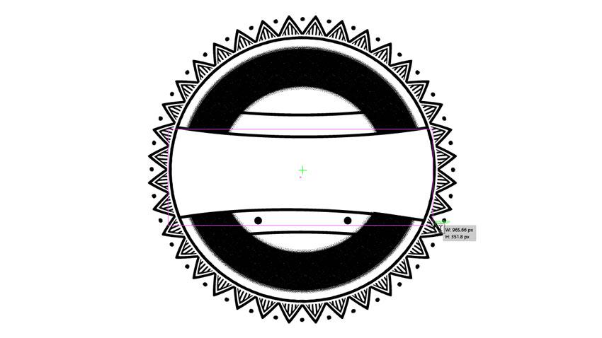 طراحی متن منحنی در ایلاستریتور