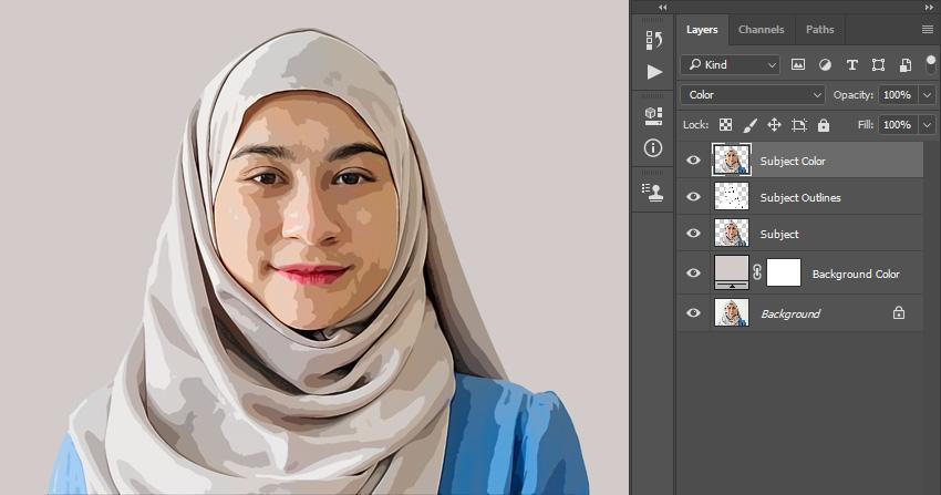اکشن تبدیل عکس به نقاشی در فتوشاپ