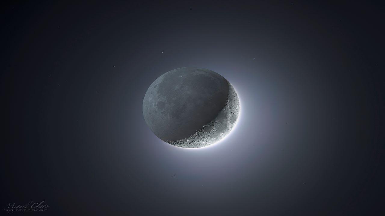 تصویر HDR از هلال ماه — تصویر نجومی