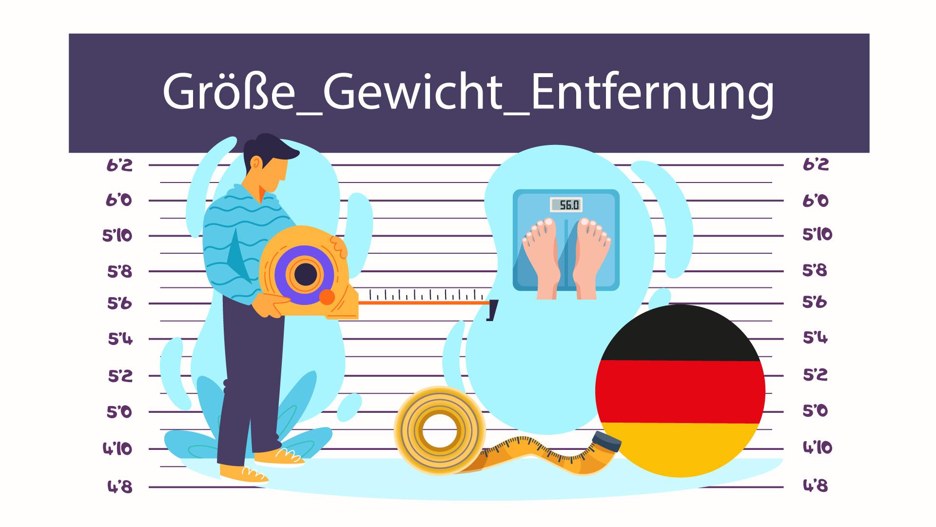 قد، وزن و مسافت در زبان آلمانی — آموزک [ویدیوی آموزشی]