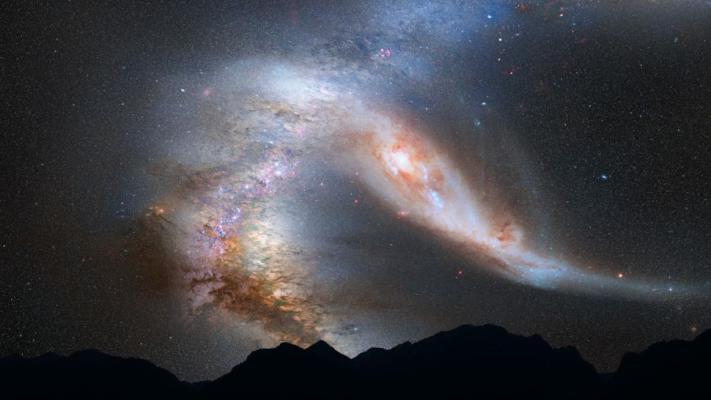 کهکشان راه شیری و کهکشان آندرومدا.