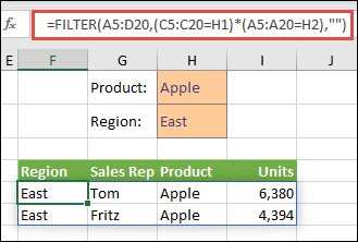 mutiple criteria in filter function