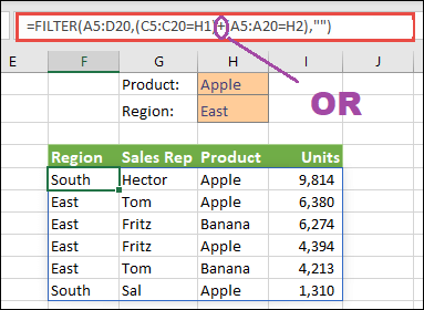 mutiple criteria with or operator in filter function