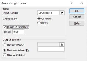 single factor dialog box