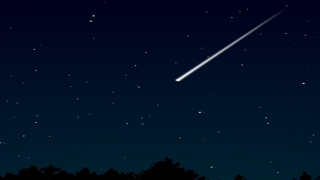 شهاب های درخشان در آسمان شب — تصویر نجومی