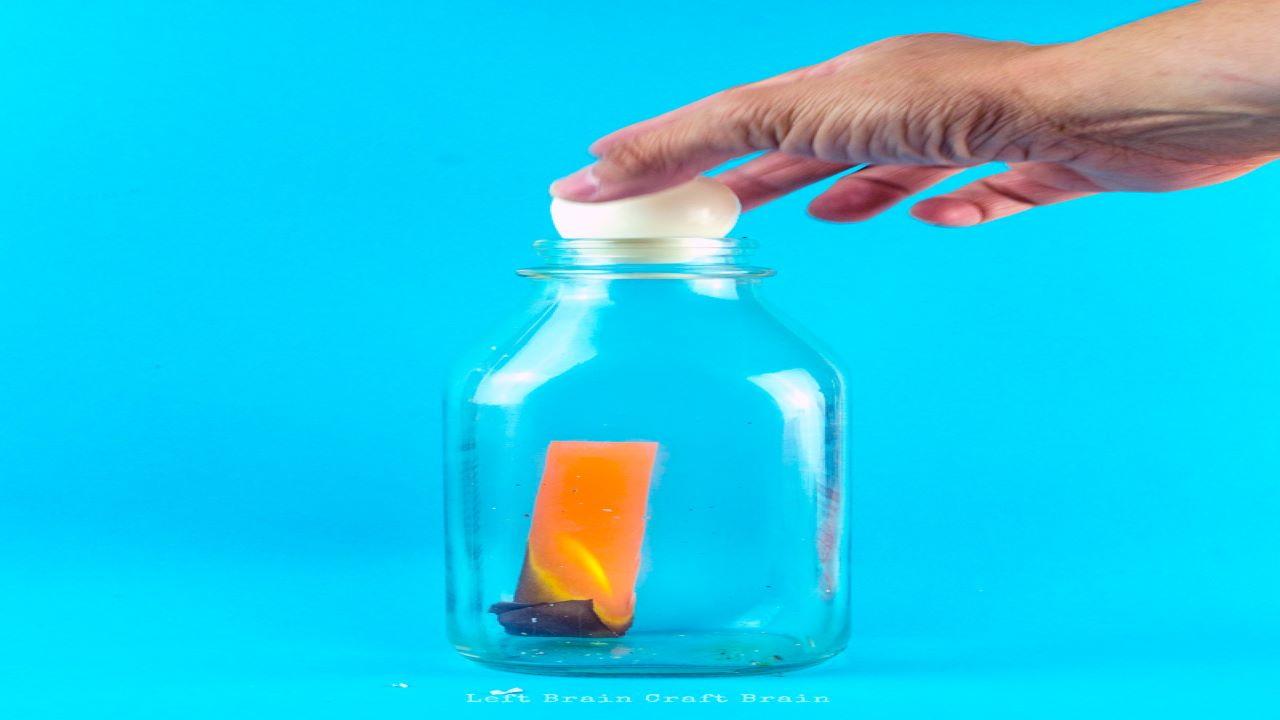 آزمایش تخم مرغ و بطری — ویدیوی علمی