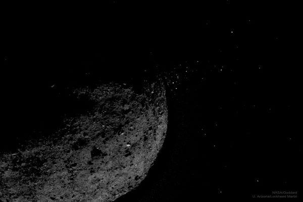پرتاب سنگ ریزه از سیارک بنو