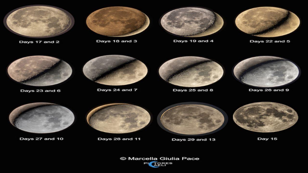 دوره تناوب هلالی ماه — تصویر نجومی