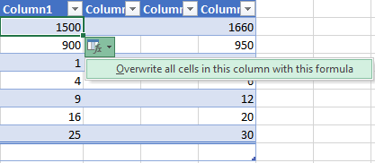 overwrite all cells