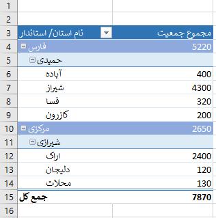pivot table report