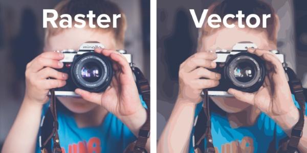 وکتور و رستر در عکاسی