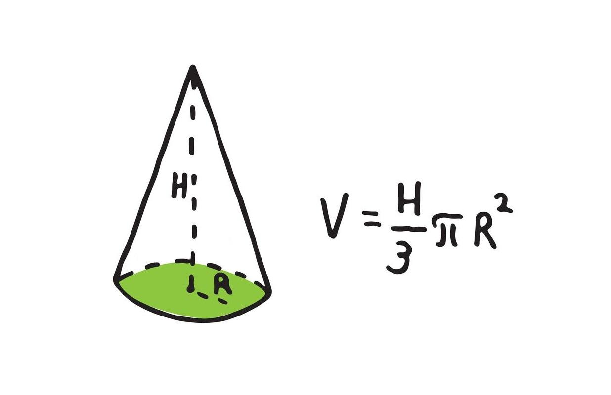 حجم مخروط و محاسبه آن   به زبان ساده
