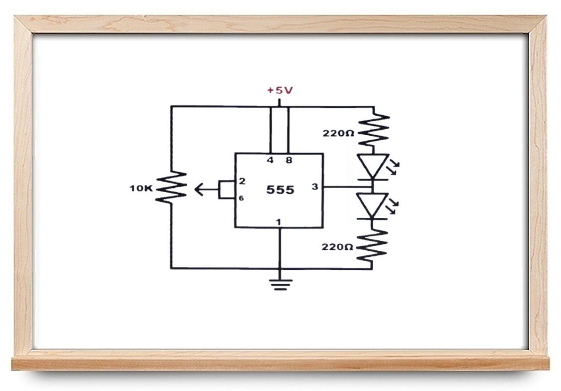 مدار اشمیت تریگر با آی سی ۵۵۵ — راهنمای کاربردی ساخت