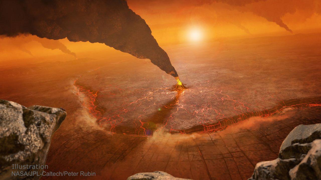 آتشفشان سیاره زهره — تصویر نجومی