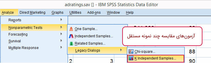 spss nonparametric tests k-independent samples