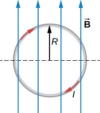 حلقه حامل جریان در میدان مغناطیسی