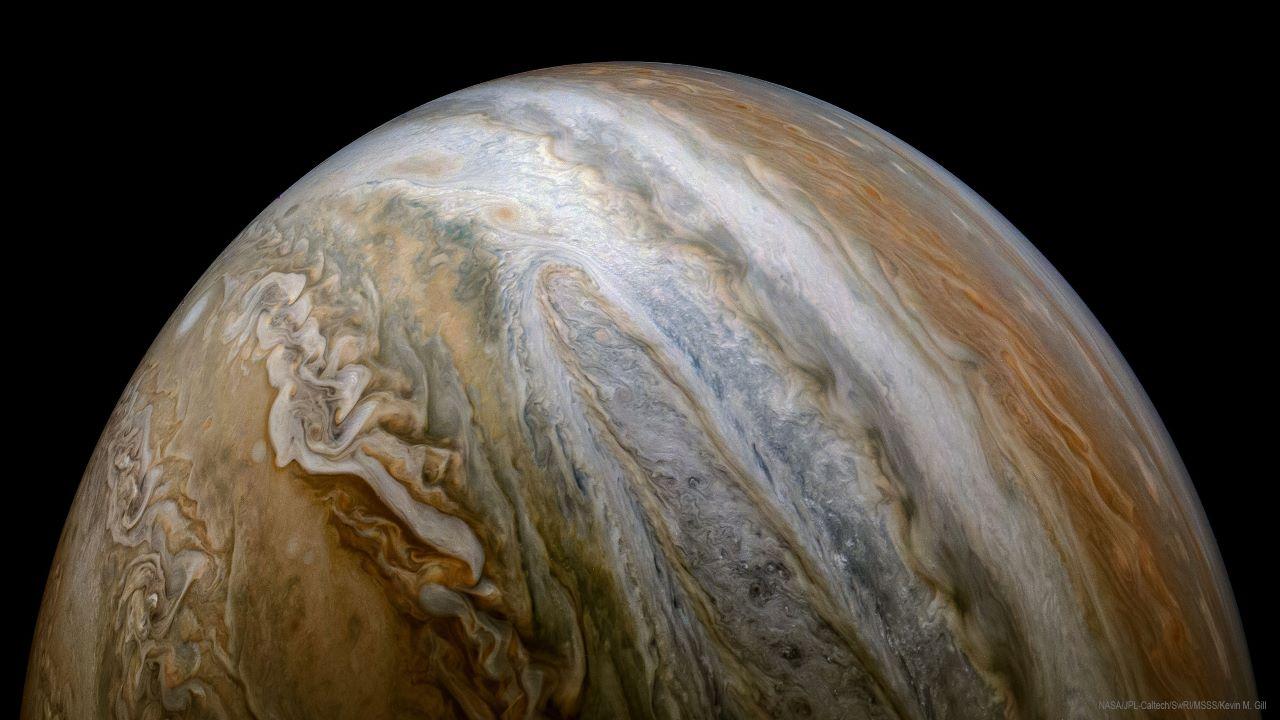 دورنمایی از سیاره مشتری — تصویر نجومی