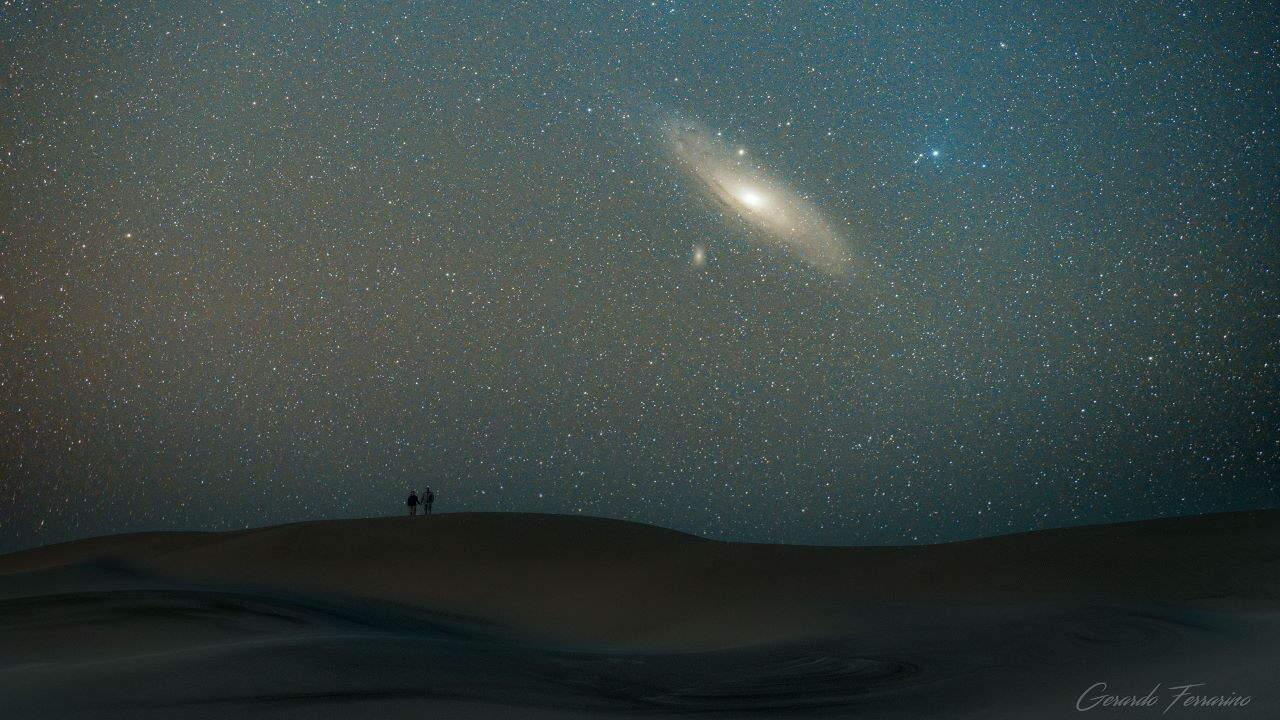 کهکشان آندرومدا بر فراز پاتاگونیا — تصویر نجومی