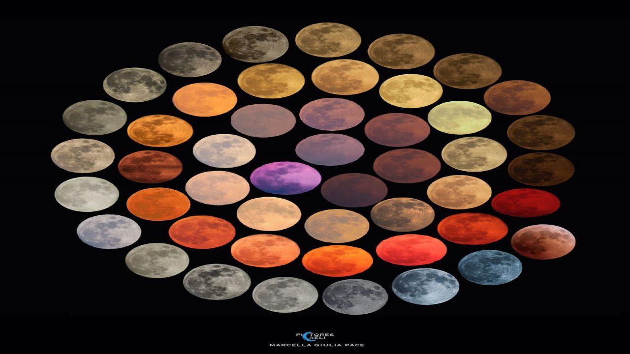 رنگ های ماه — تصویر نجومی
