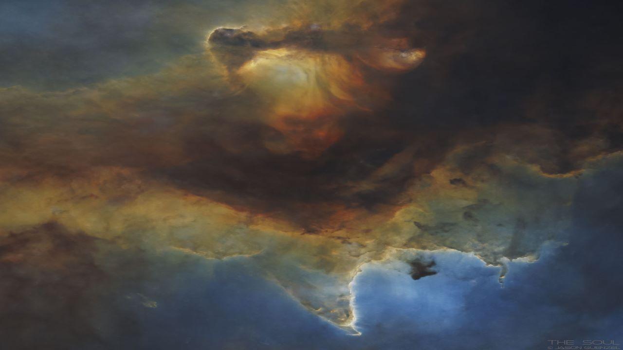 مرکز سحابی روح — تصویر نجومی