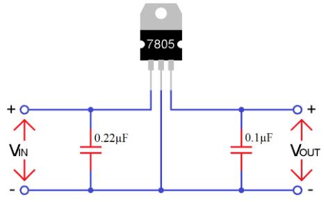 مدار IC 7805