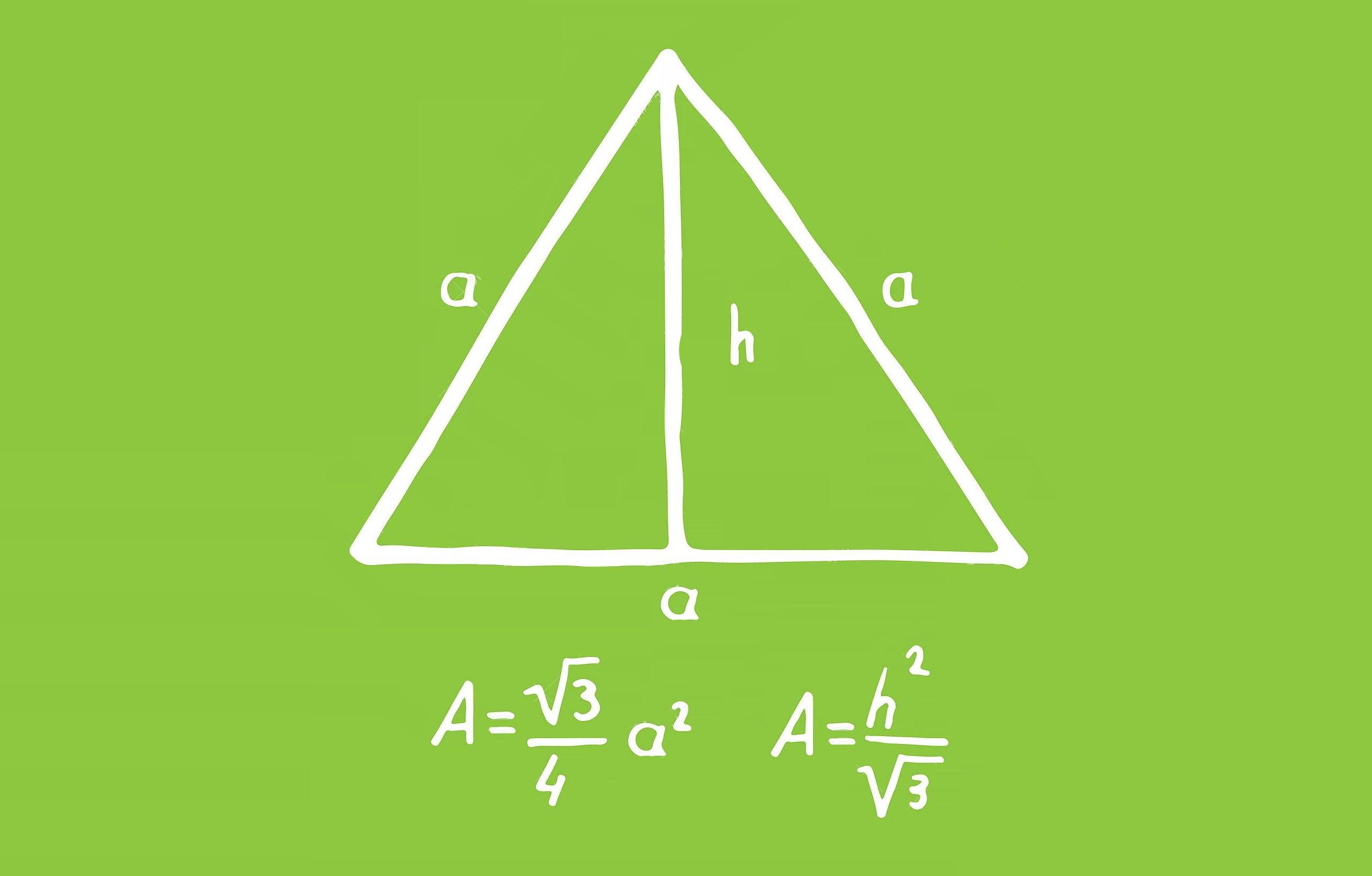 مساحت مثلث متساوی الاضلاع | محاسبه به زبان ساده