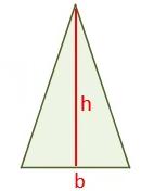 مساحت مثلث متساوی الساقین