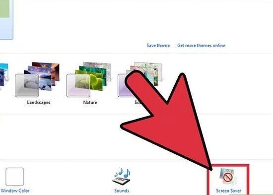 تنظیمات اسکرین سیور در ویندوز 7