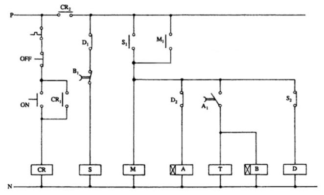 مدار فرمان انتقال مدار بسته را برای راهانداز ستاره-مثلث اتوماتیک