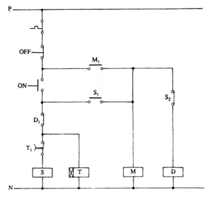 مدار فرمان ستاره مثلث اتوماتیک (انتقال مدار باز)