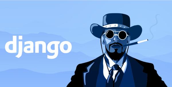 در تصویر، جنگو در فیلم تارانتینو به صورت طنز گونه با فریمورک جنگو در کنار هم آمده در مطلب آموزش django