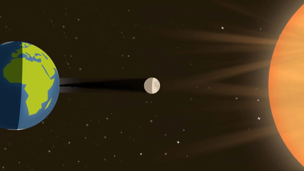 کره زمین هنگام خورشیدگرفتگی کلی — تصویر نجومی