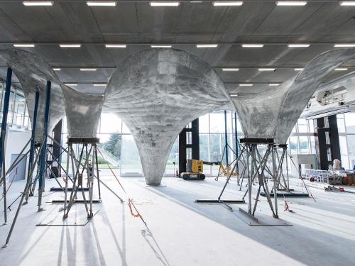 قالب انعطاف پذیر بتن در سقف