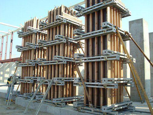 ساخت ستون با قالب چوبی