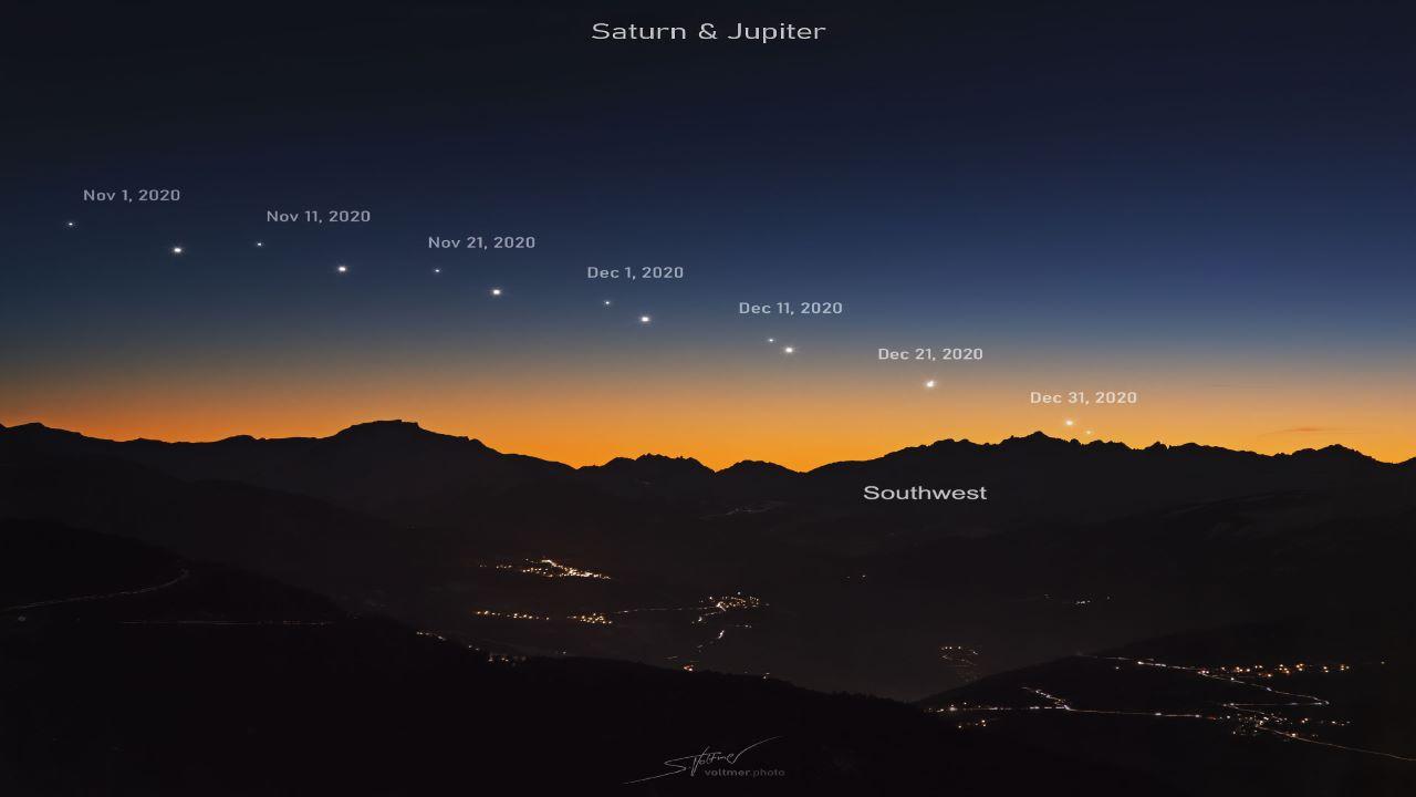 نزدیک شدن زحل و مشتری به یکدیگر — تصویر نجومی