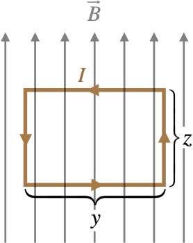 حلقه مستطیلی در میدان مغناطیسی یکنواخت