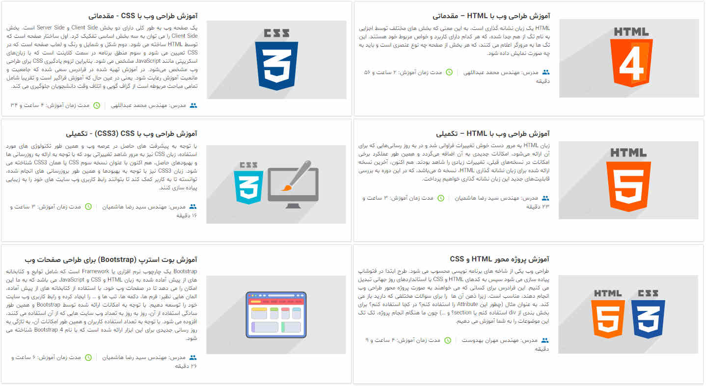 تصویر معرفی مجموعه آموزش های طراحی وب با HTML و CSS