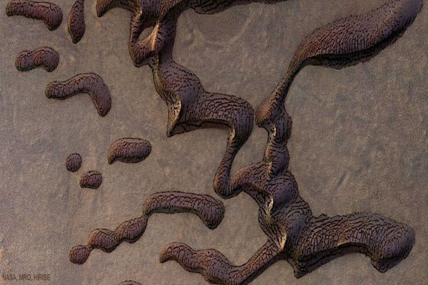 تپه های شنی عجیب روی مریخ