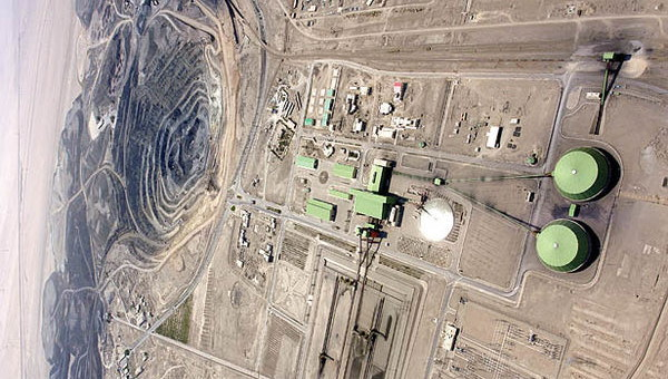 تصویری از کارخانه فراوری معدن سنگ آهن چغارت واقع در شهر بافق استان یزد