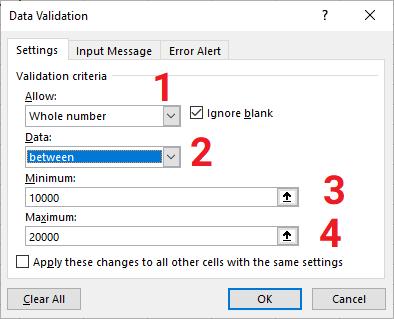 data validation whole number
