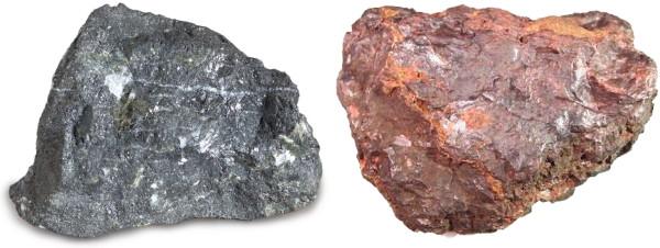 تصویر سنگ آهن هماتیت و مگنتیت