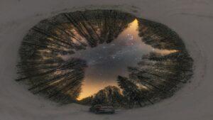 شب زمستانی نیمکره شمالی — تصویر نجومی