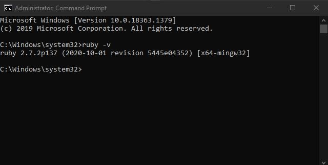 بررسی نصب بودن روبی روی سیستم عامل در مطلب آموزش روبی Ruby