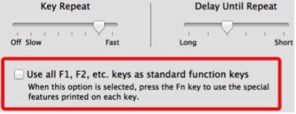 تنظیمات صفحه کلید و کلیدهای تابعی در سیستمعامل در مطلب کلیدهای میانبر اکسل