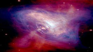 تشعشعات تپ اختر خرچنگ — تصویر نجومی